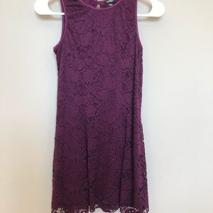 Zunie Fit and Flare Lace Burgundy Dress (12)